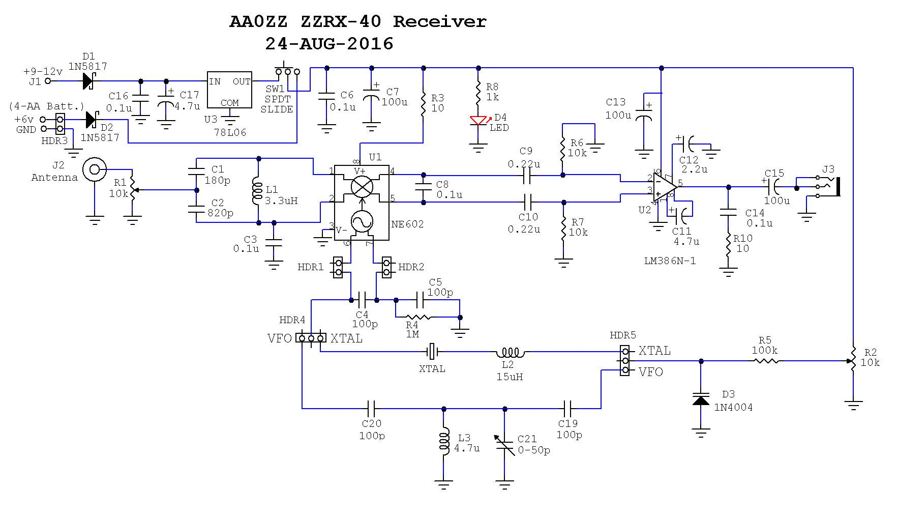 The Aazz Zzrx 40 Receiver Schematic Hex Pcb Format